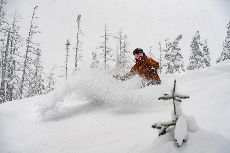 Powder Snowboarding in Whistler