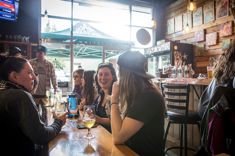 Friends at Coast Mountain Brewery in Whistler