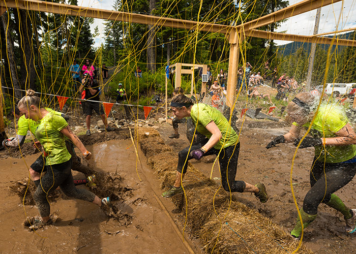 On course at Tough Mudder Whistler