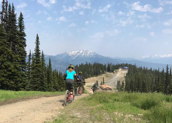 A-rides on Whistler Mountain