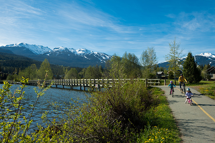 Biking on Whistler's Valley Trail