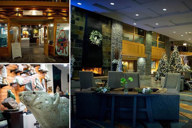 holiday lobby shots of the Westin