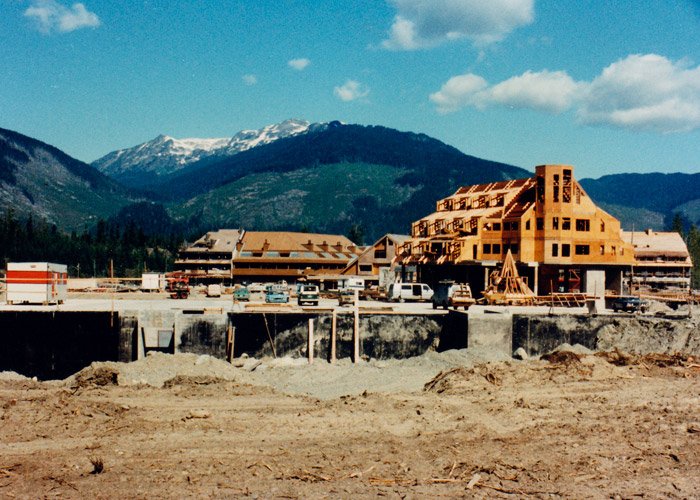 The construction of the Clock Tower Hotel in 1979.