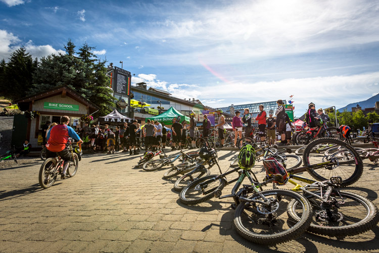 Skier's Plaza in Whistler in summer