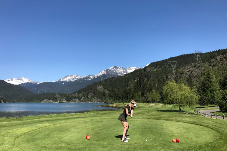 Nicklaus North Golf Course by Green Lake Whistler