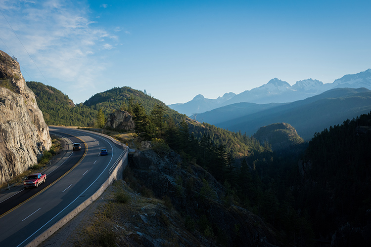 Mountain views on the Sea to Sky Highway