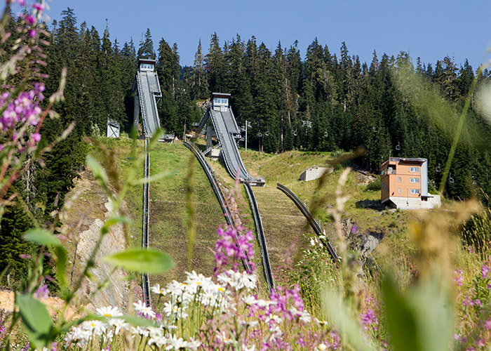 The ski jumps at Whistler Olympic Park