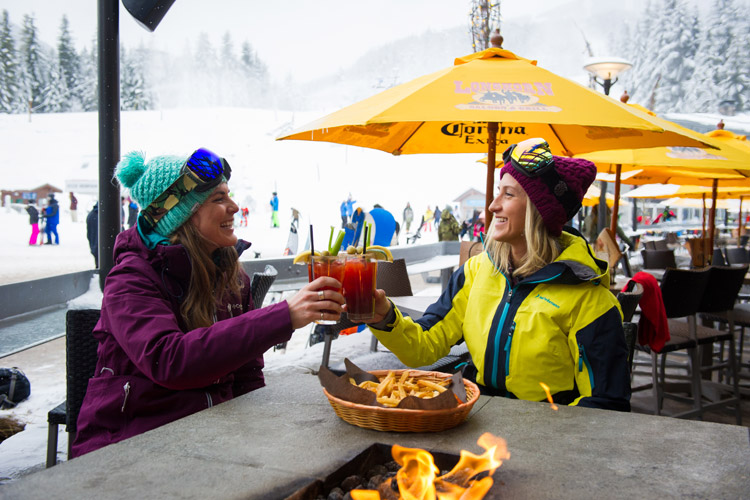 Skis to cheers in under a minute? That's apres the Whistler way.