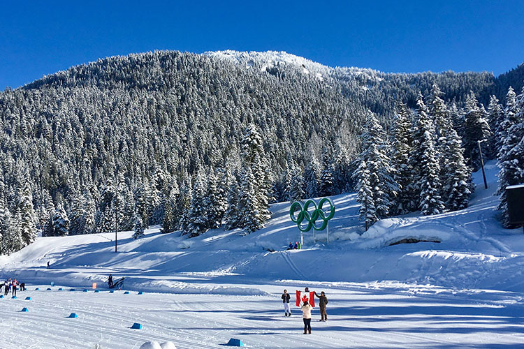 The setting of the Coast Outdoors Payak race - Whistler Olympic Park.