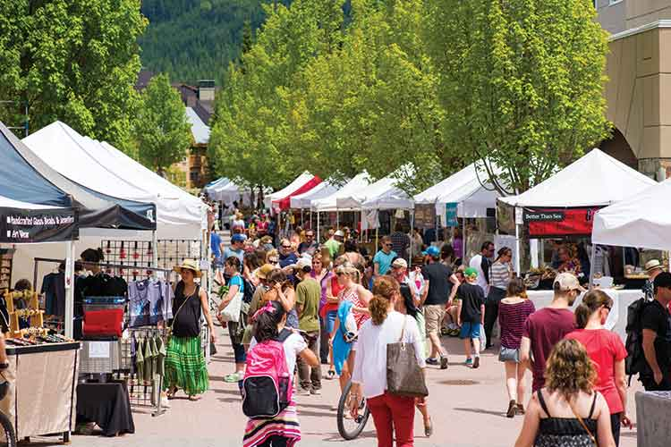 A busy day at the Whistler Farmers Market