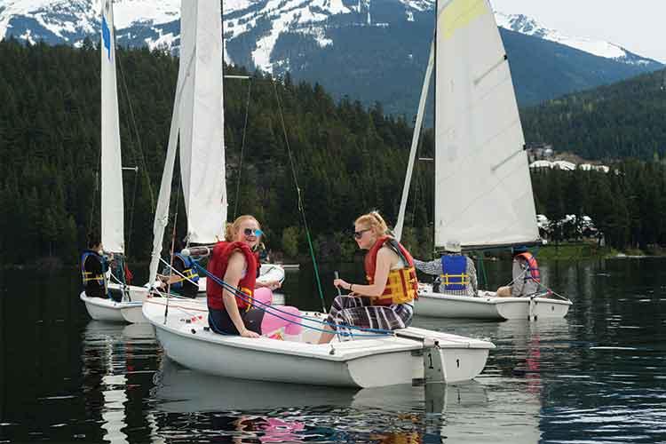 Kids sailing on Alta Lake