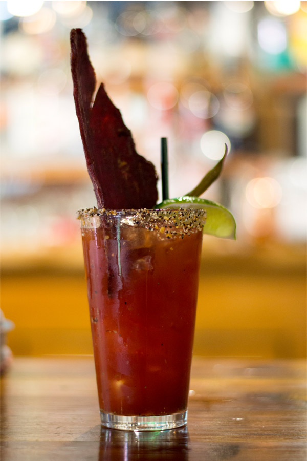 Caesar with jerky at the Fitzsimmons Pub Whistler
