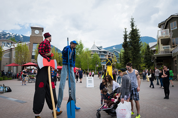 Street Entertainment in Whistler Village