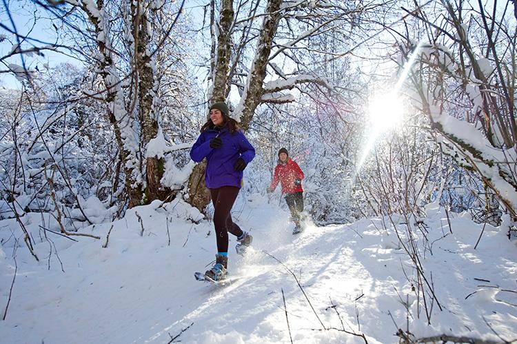 Snowshoeing at Lost Lake, Whistler