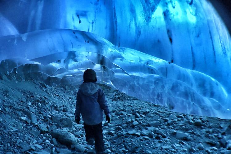 Ice Cave tour near Whistler