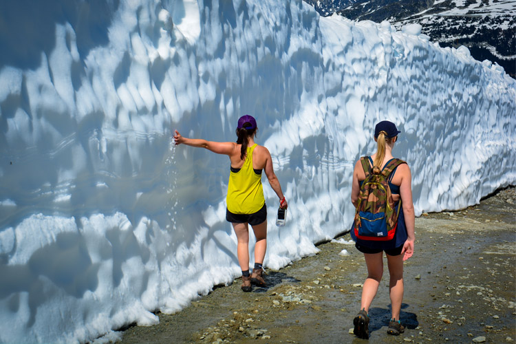 Snow Walls in Whistler Resort