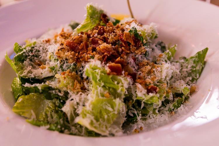 The Caesar Salad at Aura, Nita Lake Lodge
