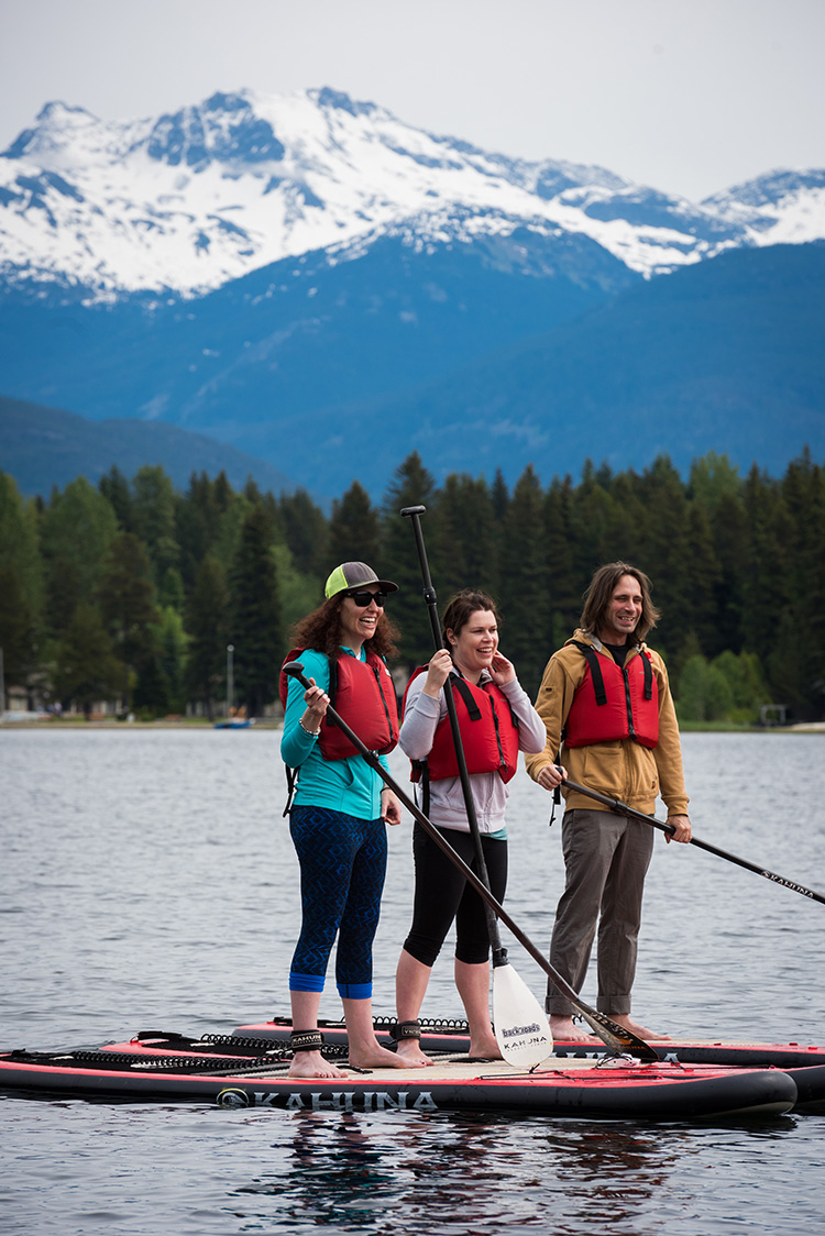 Stand Up Paddleboarding in Whistler at Go Fest