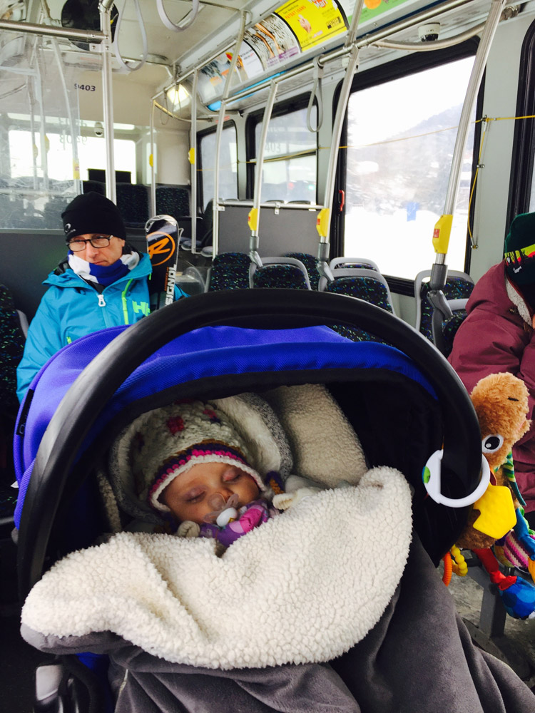 Whistler Public Transportation with a Stroller