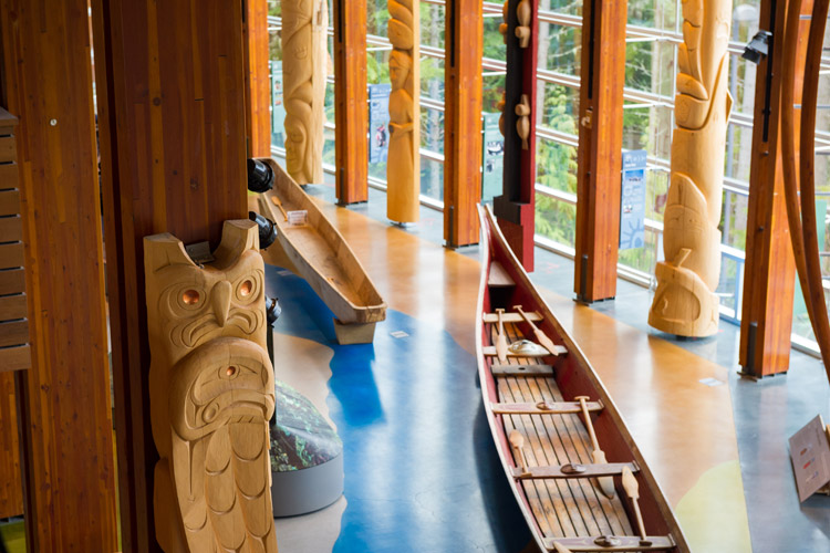 Inside the Squamish Lil'wat Cultural Centre