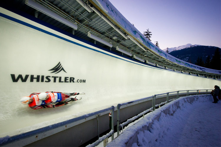 Luge World Cup Race in Whistler