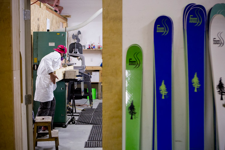 Foon Skis being made